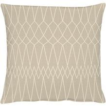 APELT Loft Style Kissen beige 45x45 Linien-Muster