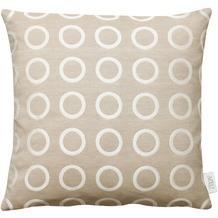 APELT Loft Style Kissen beige 45x45 Kreise