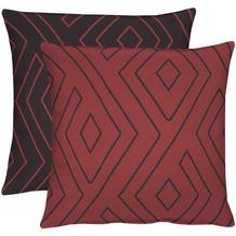 APELT Loft Style Kissen bordauxe/schwarz 45x45