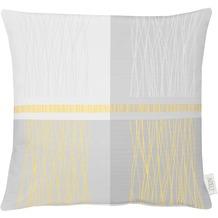 APELT Loft Style Kissen gelb / grau 48x48