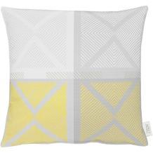 APELT Loft Style Kissen gelb/grau 48x48