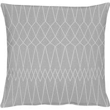 APELT Loft Style Kissen grau 45x45, Diamantmuster