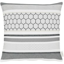 APELT Loft Style Kissen hellgrau 45x45, abstrakt