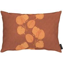 APELT Loft Style Kissen kunstvoll ausgearbeitete Blätter terracotta 35x50 cm