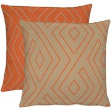 APELT Loft Style Kissen orange/taupe 45x45
