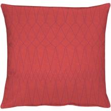 APELT Loft Style Kissen rot 45x45, Diamantmuster