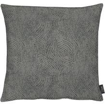 APELT Loft Style Kissen schwarz 48x48, Linienmuster