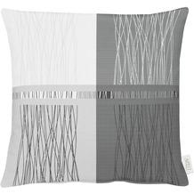 APELT Loft Style Kissen schwarz / weiß 48x48
