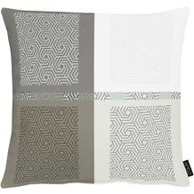 APELT Loft Style Kissenhülle all-over Karo- Grafikmusterung anthrazit / weiß 49x49 cm