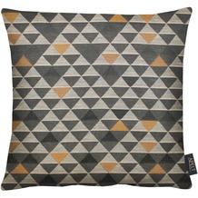 APELT Loft Style Kissenhülle braun 49x49, Dreiecksmuster