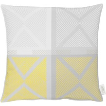 APELT Loft Style Kissenhülle gelb/grau 49x49