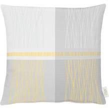APELT Loft Style Kissenhülle gelb / grau 49x49