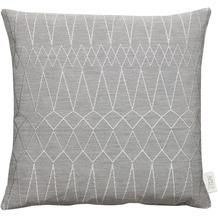 APELT Loft Style Kissenhülle grau 46x46, Diamantmuster