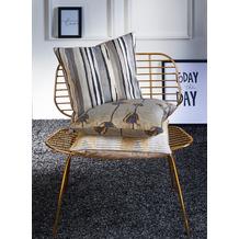 APELT Loft Style Kissenhülle grau/anthrazit/beige 46x46 cm