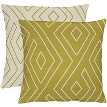APELT Loft Style Kissenhülle grün/natur 46x46