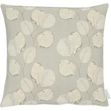 APELT Loft Style Kissenhülle kunstvoll ausgearbeitete Blätter stein / beige / natur 46x46 cm