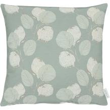 APELT Loft Style Kissenhülle kunstvoll ausgearbeitete Blätter türkis / natur 46x46 cm