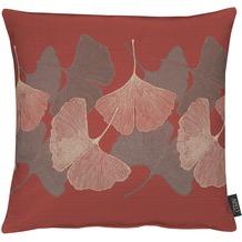 APELT Loft Style Kissenhülle rot 46x46, Blattmuster