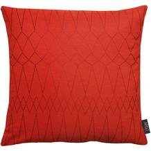 APELT Loft Style Kissenhülle rot 46x46, Diamantmuster