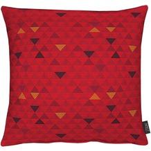 APELT Loft Style Kissenhülle rot mit Dreiecken 49x49
