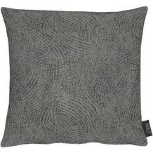 APELT Loft Style Kissenhülle schwarz 40x40, Linienmuster