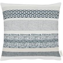 APELT Loft Style Kissenhülle schwarz/weiß 46x46, gemustert
