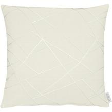 APELT Loft Style Kissenhülle weiß/grau 46x46 cm