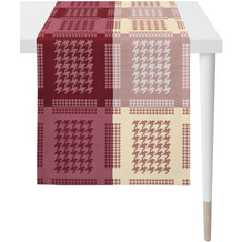 APELT Loft Style Läufer all-over Grafikmusterung rot 44x140 cm
