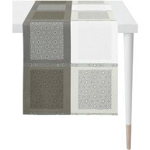 APELT Loft Style Läufer all-over Karo- Grafikmusterung anthrazit / weiß 44x140 cm