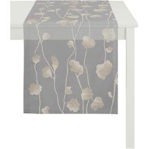APELT Loft Style Läufer anthrazit 48x140, Pflanzenmuster