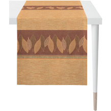 APELT Loft Style Läufer Bordüre mit grafischem Blattmotiv terracotta / orange / rostfarben 44x140 cm