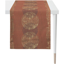 APELT Loft Style Läufer Grafikmusterung terracotta 48x140 cm