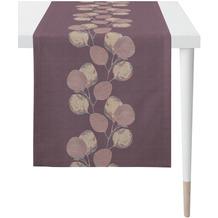 APELT Loft Style Läufer kunstvoll ausgearbeitete Blätter aubergine / lila 48x140 cm