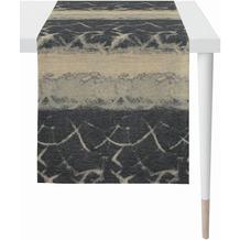 APELT Loft Style Läufer modern aufgefasste Flächen und Sturkturen anthrazit / beige 44x140 cm