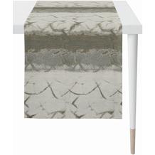 APELT Loft Style Läufer modern aufgefasste Flächen und Sturkturen stein / anthrazit 44x140 cm