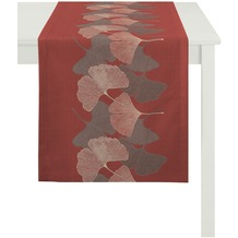 APELT Loft Style Läufer rot 48x140, Pflanzenmuster