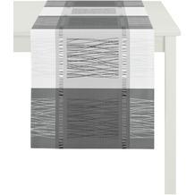 APELT Loft Style Läufer schwarz / weiß 44x140