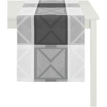 APELT Loft Style Läufer schwarz/weiß 44x140, Viertelmuster