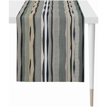 APELT Loft Style Läufer Streifen all-over grau 44x140 cm