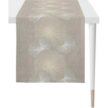 APELT Loft Style Läufer taupe 48x140 cm, Pflanzenmuster