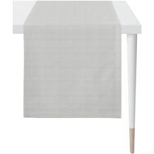 APELT Loft Style Läufer Uni Rips grau/hellgrau 44x140 cm
