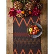 APELT Loft Style Läufer Zick-Zack rost / braun / orange 44x140 cm