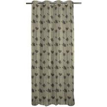 APELT Loft Style Ösenschal grau/anthrazit/beige 135x245 cm