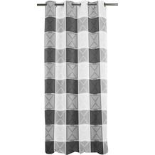 APELT Loft Style Ösenschal schwarz/weiß kariert 140x245