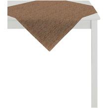 APELT Loft Style Tischdecke braun 85x85, Schuppenmuster
