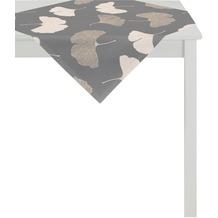 APELT Loft Style Tischdecke anthrazit /kupfer 90x90