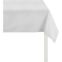 APELT Loft Style Tischdecke hellgrau 85x85, Wellenmuster