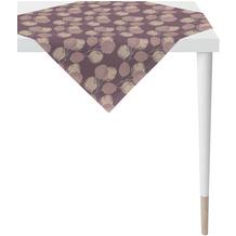 APELT Loft Style Tischdecke kunstvoll ausgearbeitete Blätter aubergine / lila 90x90 cm