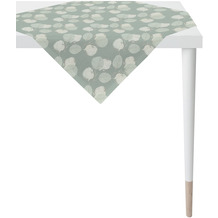 APELT Loft Style Tischdecke kunstvoll ausgearbeitete Blätter türkis / natur 90x90 cm