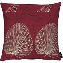 APELT Modern Luxury Kissenhülle bordeaux 46x46 cm, Pflanzenmuster